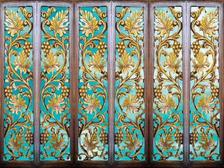 luce d'epoca in legno linea di arte del fiore partizione camera blu cielo e legno arte
