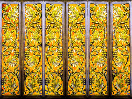 partition: room partition art wood vintage yellow tile and wood art background