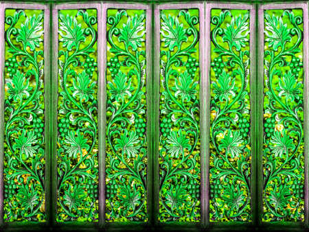 partition: room partition art wood vintage green plant and wood art background