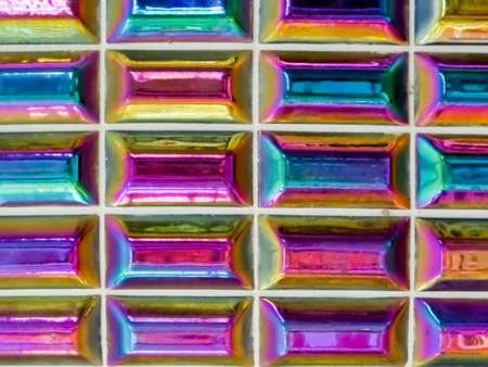 wall decor: glaze tile jewel color or buprestidae color decor wall tile Stock Photo