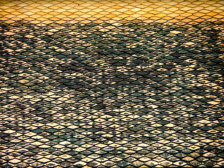horizental: Roof horizental line pattern background at buddha temple Stock Photo