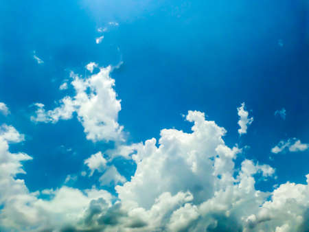 light complexion: white cloud blue sky and heaven sunshine a day