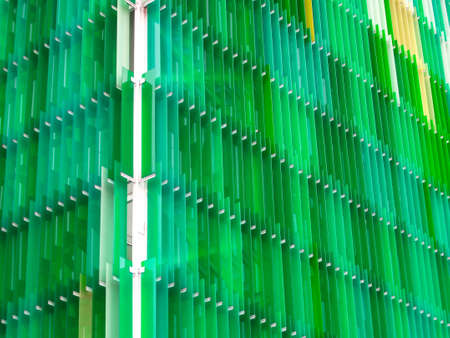 much light green of acrylic sheets interior outdoor outside building Stock Photo