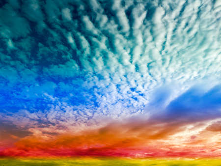 temperament: blue wave cloud and red sky when set