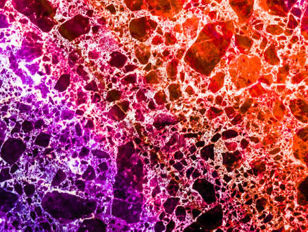 marble granite red purple colorful explosion of dimension inside texture stone Stock Photo