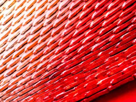 Immagini Stock Tetto Rosso Antico Del Tempio Buddismo Wat Thai