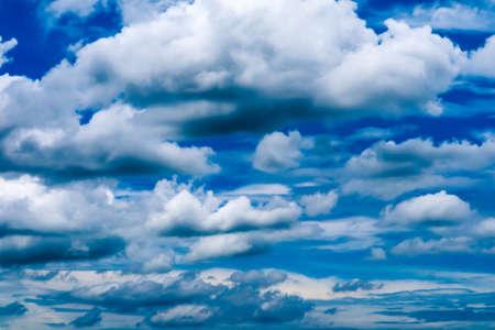 blur white heap cloud sunshine in summer  blue sky soft cloud background
