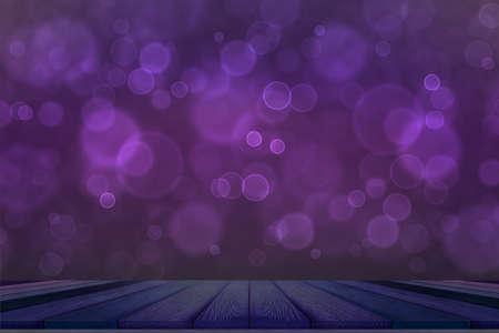 bokeh dark purple top table and dark purple bubble background Imagens