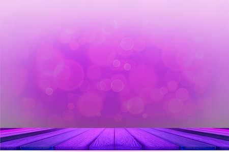 bokeh dark purple top table and light purple bubble background