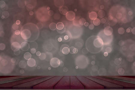 bokeh dark red top table and light purple bubble background Imagens