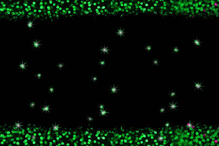 green pieces color abstract of blur colorful light interior and black background