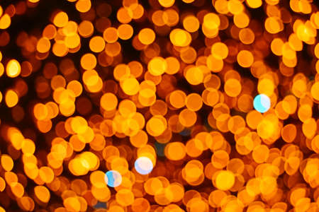 color abstract of blur and bokeh colorful light interior and night garden background