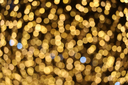gold color abstract of blur and bokeh colorful light interior and night garden background