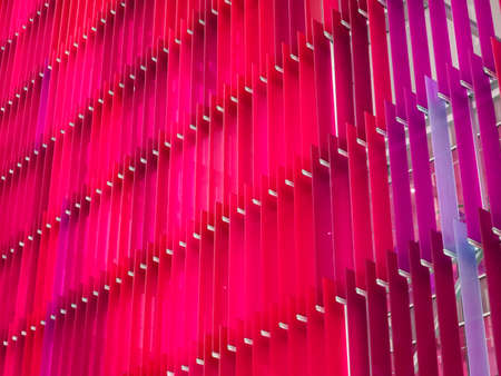 acrylic plastic sheet interior and exterior outdoor have a colorful pattern of concept design