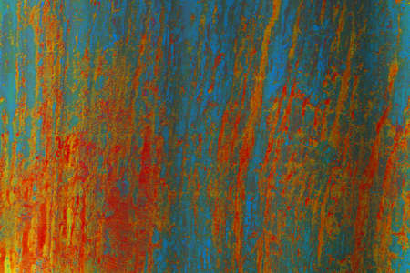 orange rust and erosion of metal iron steel surface texture background