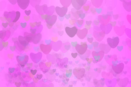 light pink heart star rainbow bubble and dark heart abstract background