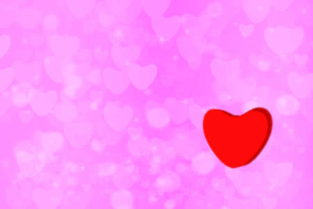 light pink heart star rainbow bubble and white heart abstract background