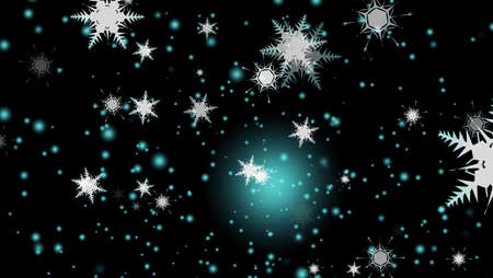 snowflake falling ice snow dust particles element for Christmas and Christmas eve and light blink faded background