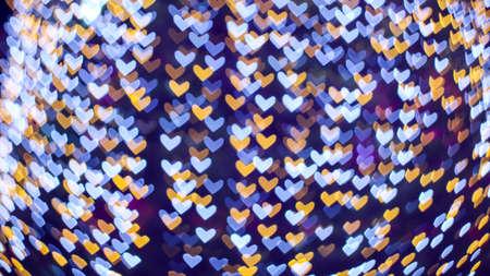abstract blur blue white heart shape love valentine day on tree in garden 版權商用圖片
