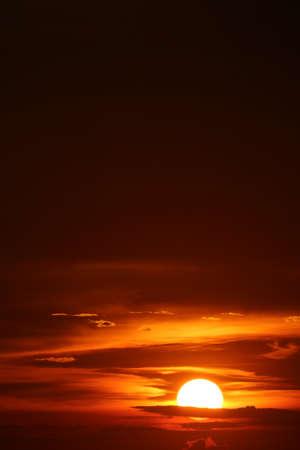 sun dawn back on morning sky silhouette cloud sunlight on sea