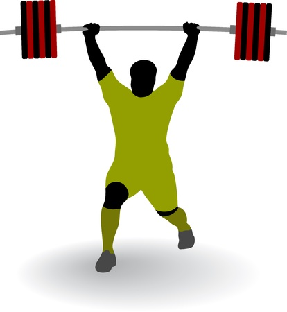 Silhouette of weightlifter Stock Vector - 16663813