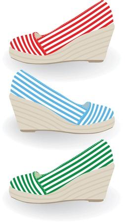 stria: Set of shoes.