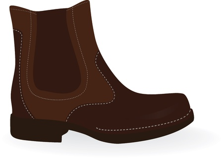comfy: Brown  boots isolated on white. Vector illustration. Illustration