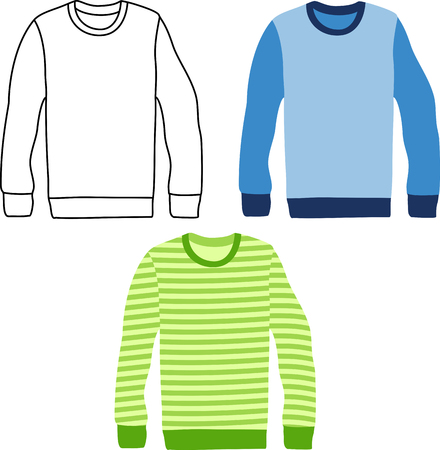sleeve: Three long sleeve striped sweaters