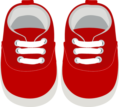 Kids Shoes. Simple Vector Illustration. Illustration