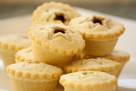 Stack of mince pies photo