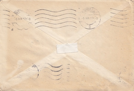 Image of very old stamped envelope Stock Photo