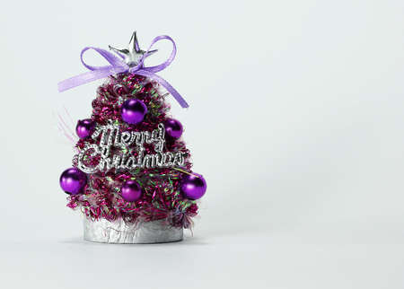 Little Christmas tree ornament with Merry