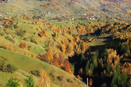 The highest mountain village in the Romanian Carpathian ( 1000 m ) photo