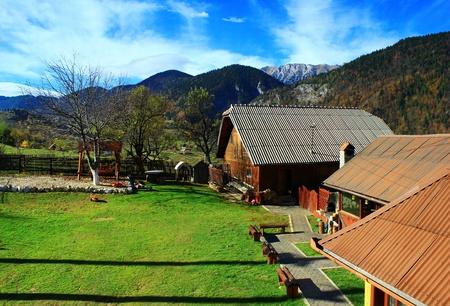 Mountain village in Romanian Carpathians