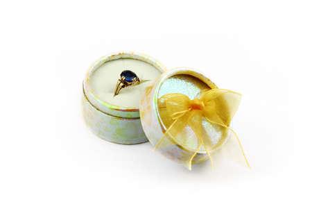 Ring inside present box