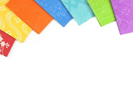 Colorful origami sheets with empty space for text Stock Photo