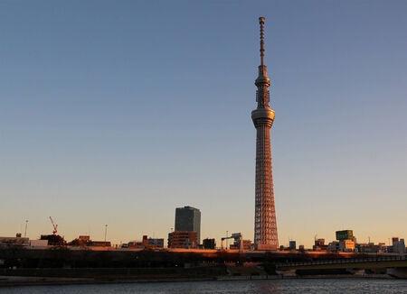 TOKYO - CIRCA NOVEMBER 2013. Tokyo Sky Tree, one of Japans main symbols is the tallest tower in the world.