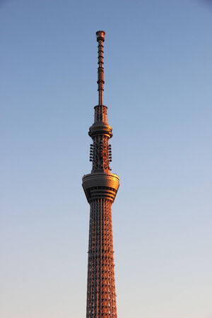 TOKYO - CIRCA NOVEMBER 2013. Tokyo Sky Tree, one of Japans main symbols is the tallest communication tower in the world.