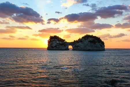 Engetsu Island, a popular tourist destination in Wakayama, Japan.