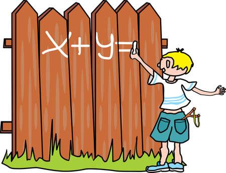 Bully-boy writes on the fence