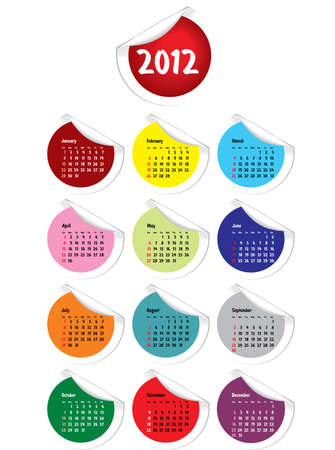julie: 2012 Calendar with curled stickers corners