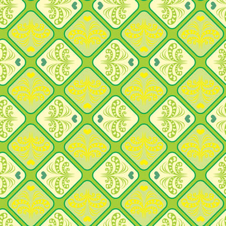 seamless pattern with a vintage pattern of sprouting hearts Vector