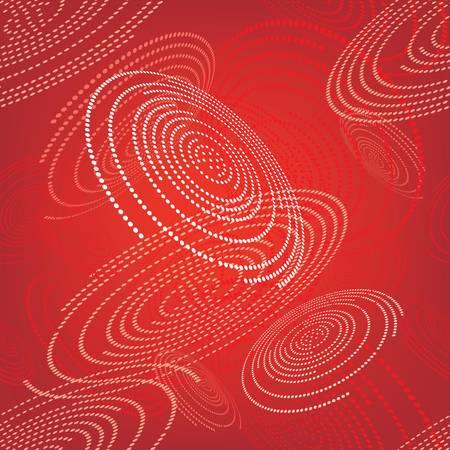 Patrón sin fisuras con el espacio abstracto círculos rojos Ilustración de vector