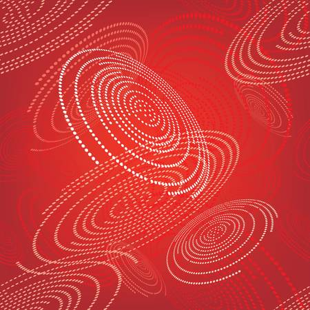 Seamless pattern with abstract space red circles Illustration