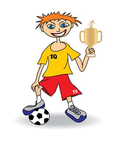 educacion fisica: Joven jugador de f�tbol