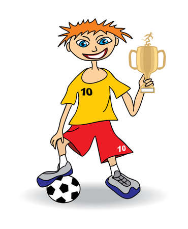 Young soccer player Stock Vector - 12208373