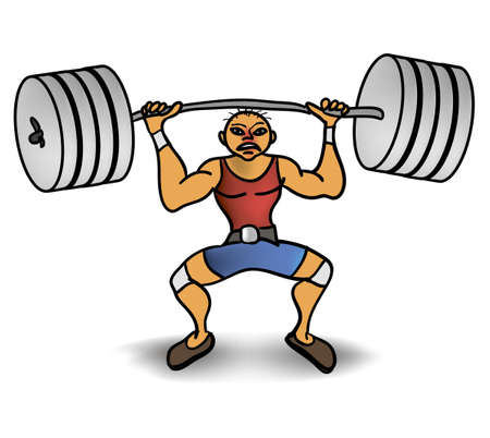 man lift a weight Vector