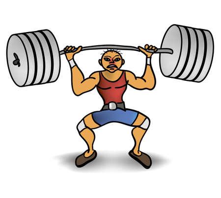 weariness: man lift a weight