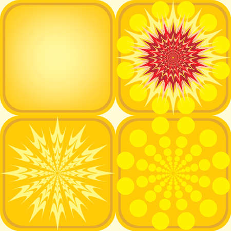seamless pattern of four yellow tiles Vector