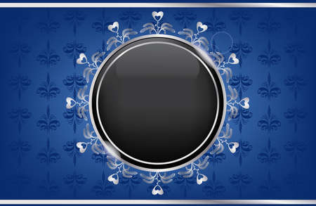 silver blue box with a black ball Stock Vector - 12796811